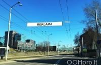 Lauko reklamos plotas: TG-M5-185, Žygimantų g. – Vilniaus g., Vilnius