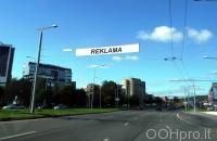Lauko reklamos plotas: TG-M5-193, Narbuto g. ties Saltoniškių g., Vilnius