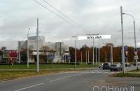 Lauko reklamos plotas: TG-M5-232, Šeimyniškių g. ties Žirmūnų žiedu, Vilnius